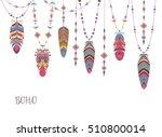 boho abstract design with bird...   Shutterstock .eps vector #510800014