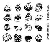 dessert   bakery icon set | Shutterstock .eps vector #510805603