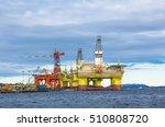 oil platforms under maintenance ... | Shutterstock . vector #510808720