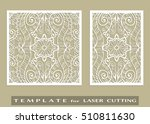 abstract cutout panels set for... | Shutterstock .eps vector #510811630