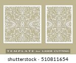 abstract cutout panels set for... | Shutterstock .eps vector #510811654
