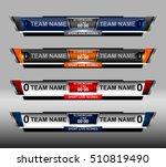 scoreboard sport template for... | Shutterstock .eps vector #510819490