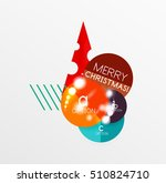 christmas and new year sale... | Shutterstock .eps vector #510824710
