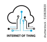 cloud iot internet of things... | Shutterstock .eps vector #510828820