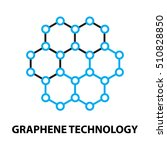 graphene nano technology icon ... | Shutterstock .eps vector #510828850
