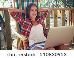Close Up Of Joyous Woman With...