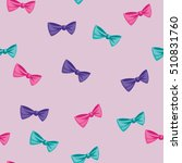 seamless colored bow ties... | Shutterstock .eps vector #510831760