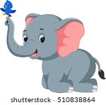 elephant cartoon | Shutterstock .eps vector #510838864