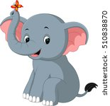 elephant cartoon | Shutterstock .eps vector #510838870