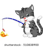 cute cat cartoon | Shutterstock .eps vector #510838900