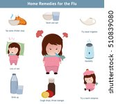 home  remedies for the flu.... | Shutterstock .eps vector #510839080