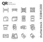 qr code vector icon set   Shutterstock .eps vector #510841300