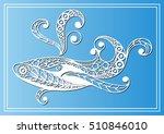 decorative zodiac sign cetus ... | Shutterstock .eps vector #510846010