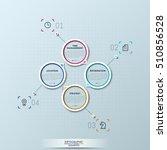 modern infographic design... | Shutterstock .eps vector #510856528