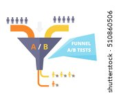 funnel ab test   vector... | Shutterstock .eps vector #510860506