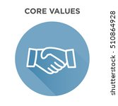 core values icon with handshake ... | Shutterstock .eps vector #510864928