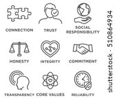 Business Ethics Icon Set With...