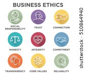 business ethics icon set with... | Shutterstock .eps vector #510864940