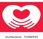 Hand Heart - stock vector