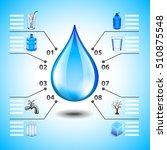 water infographics with big... | Shutterstock .eps vector #510875548