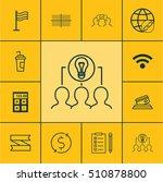 set of 12 universal editable... | Shutterstock .eps vector #510878800