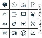 set of 16 universal editable... | Shutterstock .eps vector #510878893