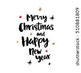 merry christmas poster  vector... | Shutterstock .eps vector #510881809