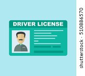 car driver license icon | Shutterstock .eps vector #510886570