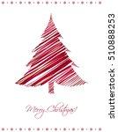 modern abstract christmas card...   Shutterstock . vector #510888253