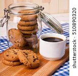 chocolate cookies in a glass... | Shutterstock . vector #510890320