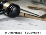 last will and testament | Shutterstock . vector #510895954