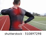 athletic fitness man with neck... | Shutterstock . vector #510897298