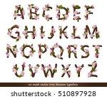 hand drawn alphabet made of...