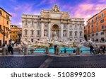 Sunrise View Of Rome Trevi...