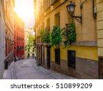 old street in madrid  spain.... | Shutterstock . vector #510899209