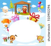 nativity in bethlehem with... | Shutterstock .eps vector #510902296