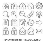 modern line style icons  user... | Shutterstock .eps vector #510903250