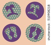 set of polka dot patches with... | Shutterstock .eps vector #510908218