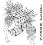 hand drawn ink pattern.... | Shutterstock .eps vector #510913330