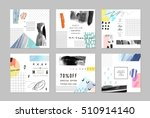set of artistic creative... | Shutterstock .eps vector #510914140
