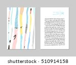 set of artistic creative... | Shutterstock .eps vector #510914158