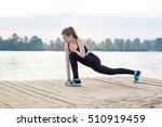 young pretty slim fitness... | Shutterstock . vector #510919459
