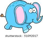 Crazy Blue Elephant - stock vector