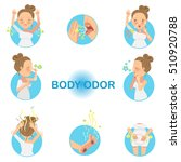 women who have had body odor.... | Shutterstock .eps vector #510920788
