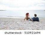 rear portrait of young tourist... | Shutterstock . vector #510921694