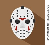 hockey mask icon. flat...