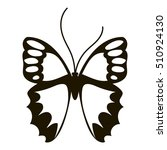 nice butterfly icon. simple... | Shutterstock .eps vector #510924130