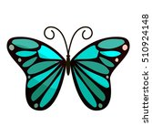 bright butterfly icon. cartoon...