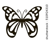 spotted butterfly icon. simple... | Shutterstock .eps vector #510924310