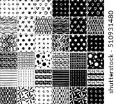 big set of seamless patterns ... | Shutterstock .eps vector #510931480